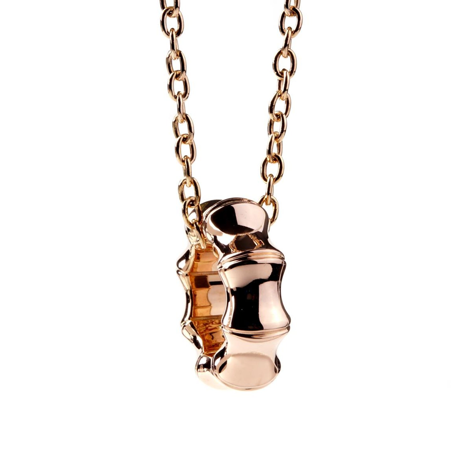 51b40ee14 Gucci Bamboo Rose Gold Necklace at 1stdibs