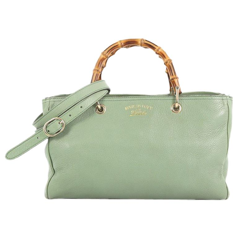 71551de61040 Gucci Bamboo Shopper Tote Leather Medium For Sale at 1stdibs