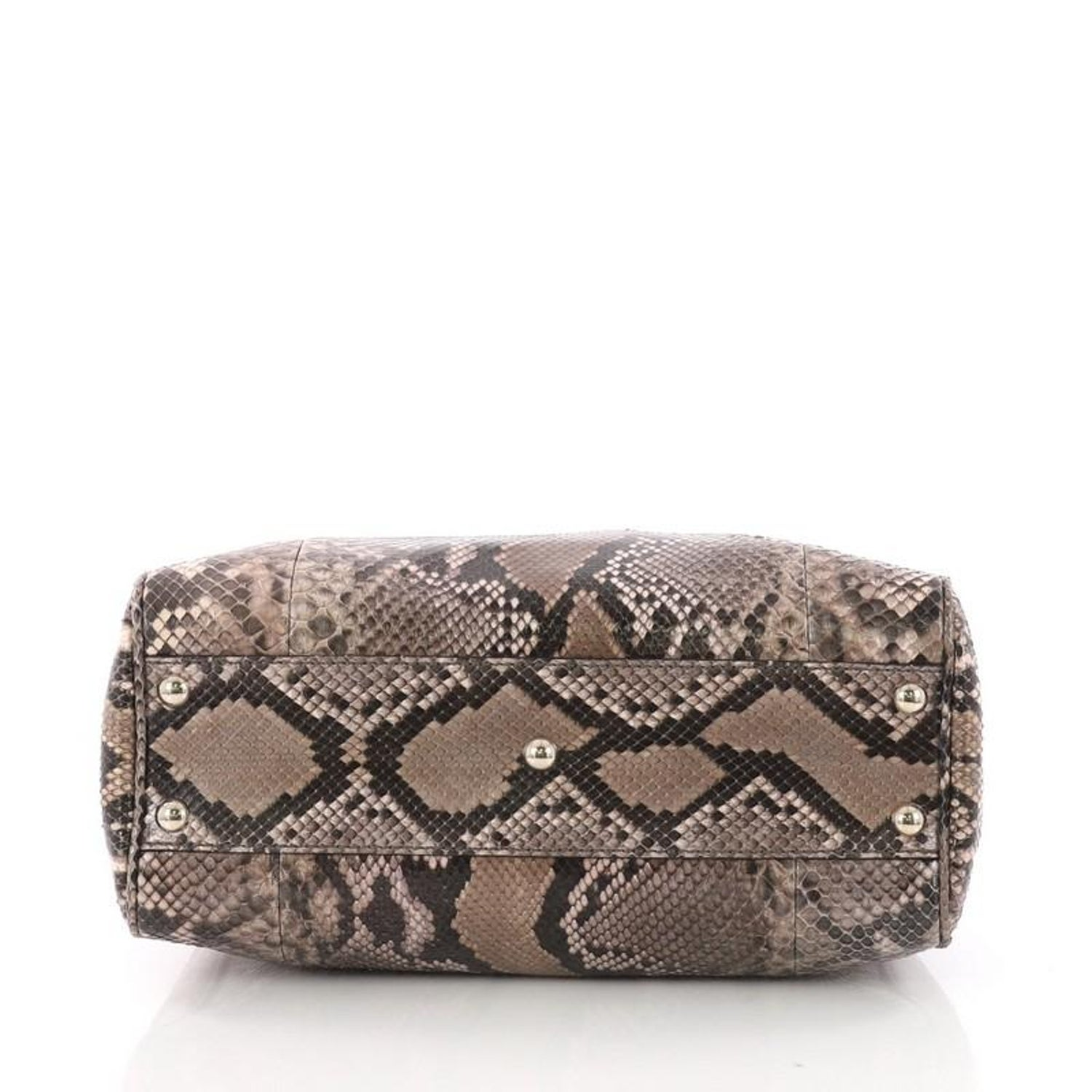 ac7442bb96f9 Gucci Bamboo Shopper Tote Python Small For Sale at 1stdibs