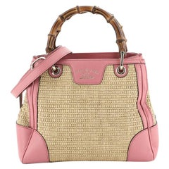 Gucci Bamboo Shopper Tote Straw Small