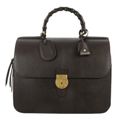 Gucci Bamboo Top Handle Briefcase Leather