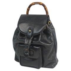 GUCCI Bamboo Womens ruck sack Daypack 003 1705 0030 black