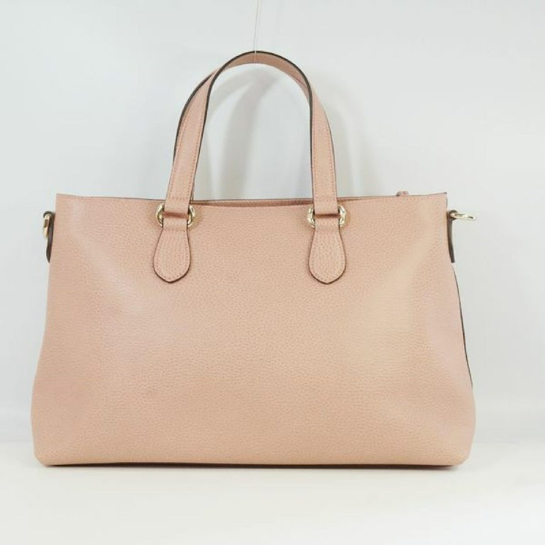 Brown GUCCI Bamboo Womens tote bag 449642 pink For Sale