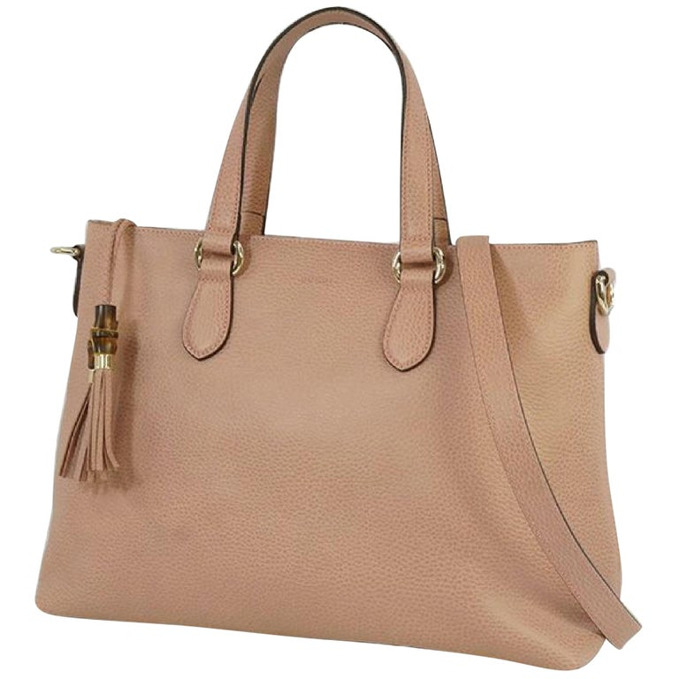 GUCCI Bamboo Womens tote bag 449642 pink For Sale