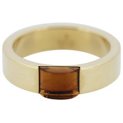 Gucci Band Ring Set with Citrine in 18 Carat Yellow Gold