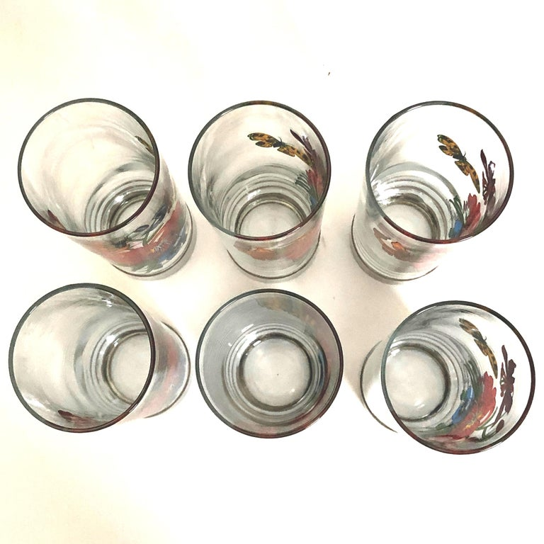 Gucci Barware Set 7pc Decanter & Highball Glasses Flora by Accornero Vintage  For Sale 1