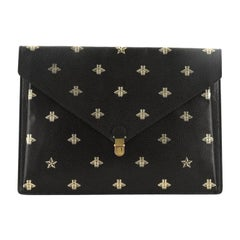 Gucci  Bee Envelope Portfolio Printed Leather