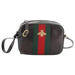 Gucci Bee Web Camera Bag Leather