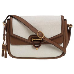 Gucci Beige/Brown Canvas and Leather Derby Shoulder Bag