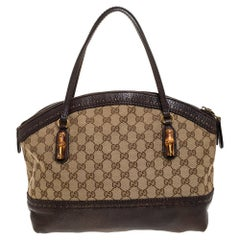Gucci Beige/Brown GG Canvas and Leather Laidback Crafty Satchel