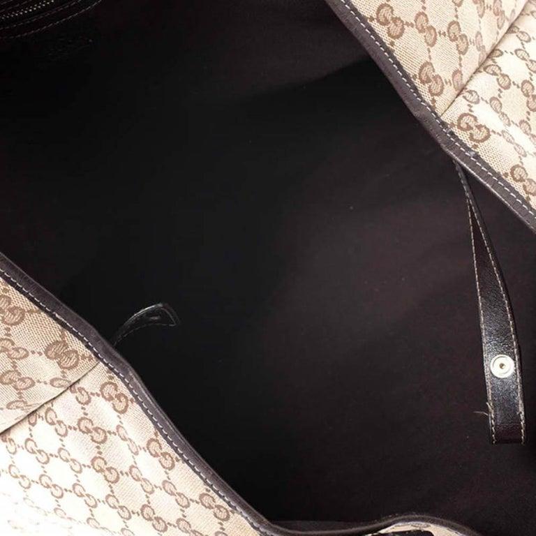 Gucci Beige/Brown GG Canvas and Leather Medium Pelham Shoulder Bag For Sale 2