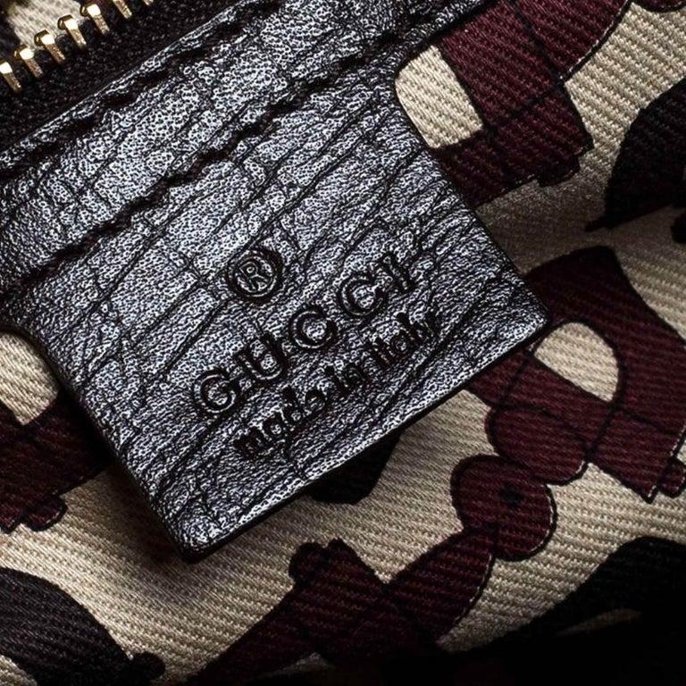 Gucci Beige/Brown GG Canvas Mini Jolicoeur Web Tote 2