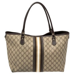 Gucci Beige/Brown Supreme Canvas and Leather Medium Joy Tote