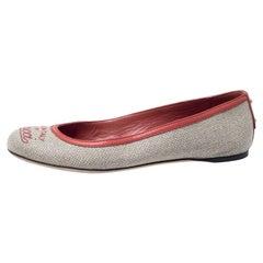 Gucci Beige Canvas Ballet Flats Size 37