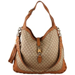 7f834e2bc Gucci Beige Diamond Canvas Large Jackie O Hobo Bag