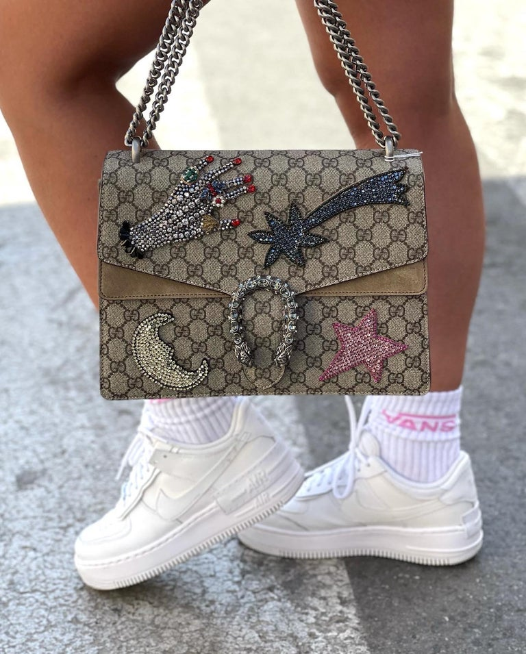 Gucci Beige Fabric Dionysus Bag For Sale 6