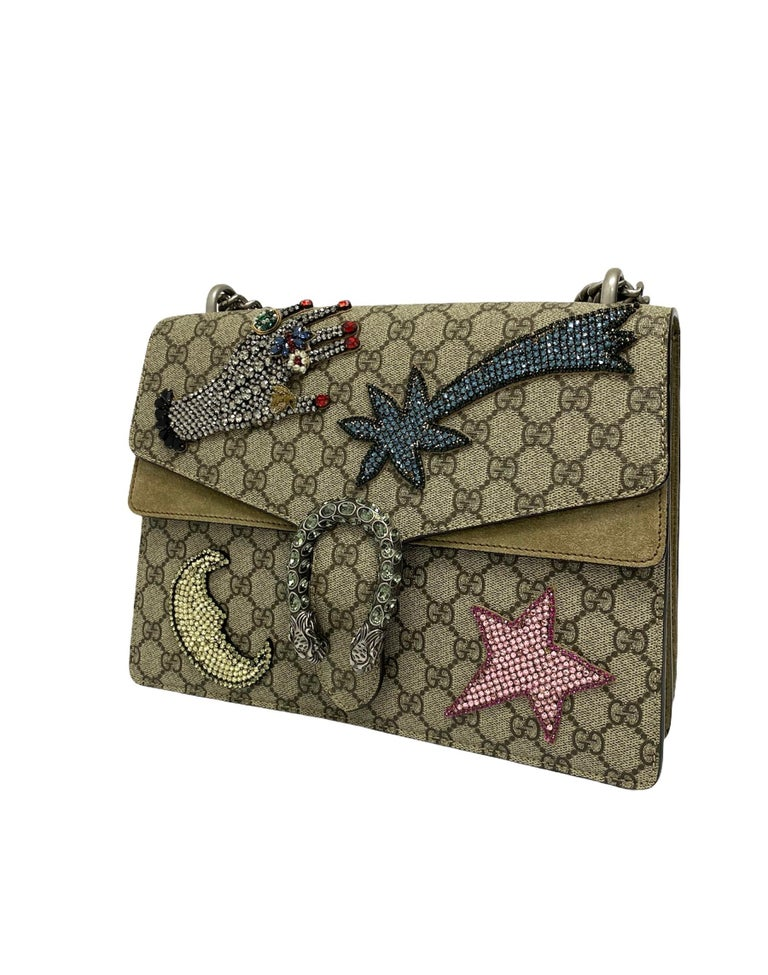 Gucci Beige Fabric Dionysus Bag In Excellent Condition For Sale In Torre Del Greco, IT