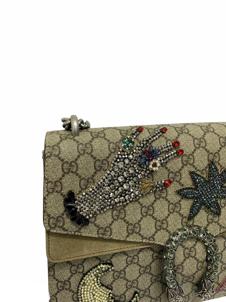 Gucci Beige Fabric Dionysus Bag For Sale 3