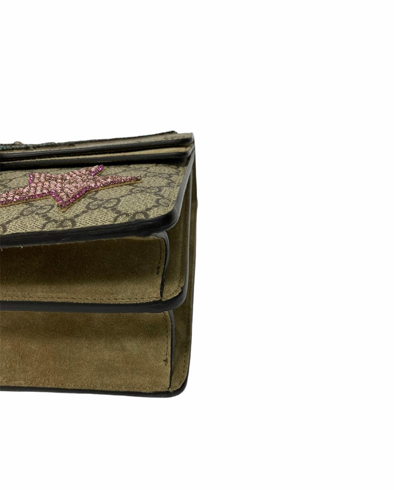 Gucci Beige Fabric Dionysus Bag For Sale 4