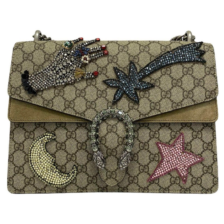 Gucci Beige Fabric Dionysus Bag For Sale