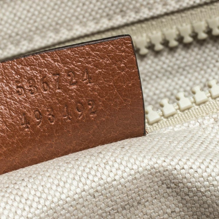 Gucci Beige GG Canvas Medium NY Yankees Backpack For Sale 6