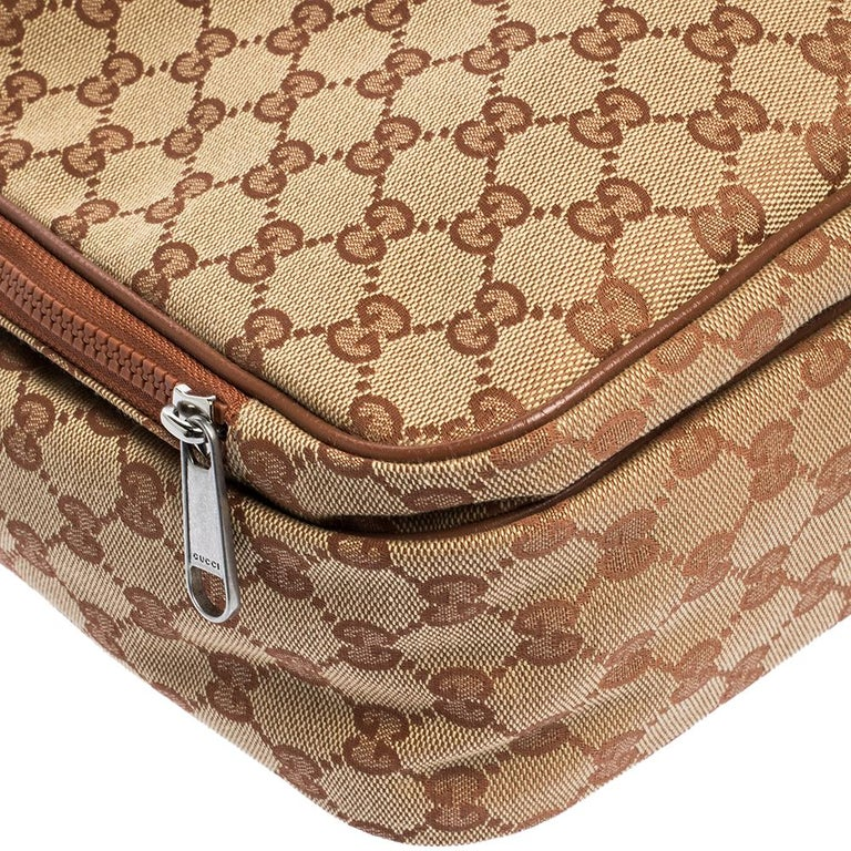 Gucci Beige GG Canvas Medium NY Yankees Backpack For Sale 2