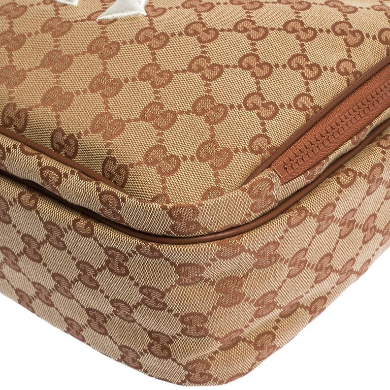 Gucci Beige GG Canvas Medium NY Yankees Backpack For Sale 4