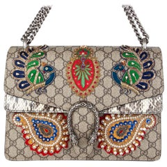 GUCCI beige GG Supreme DIONYSUS EMBELLISHED Shoulder Bag