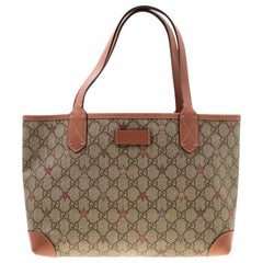 Gucci Beige GG Supreme Star Canvas Tote