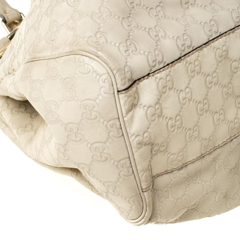 Gucci Beige Guccisima Leather Large Sukey Tote 6