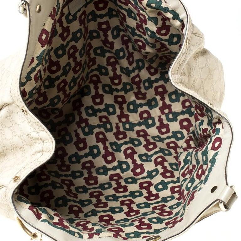 Gucci Beige Guccisima Leather Large Sukey Tote 3