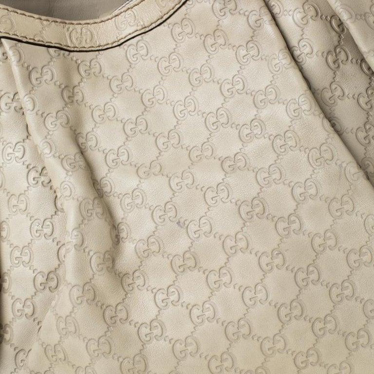 Gucci Beige Guccisima Leather Large Sukey Tote 4