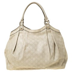 Gucci Beige Guccisima Leather Large Sukey Tote