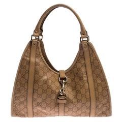 Gucci Beige Guccissima Leather Bardot Joy Tote