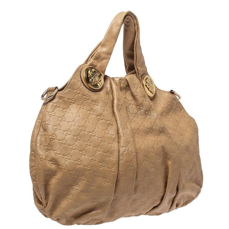 Women's Gucci Beige Guccissima Leather Large Hysteria Hobo
