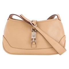 Gucci Beige Jackie-O Monogram Shoulder Bag