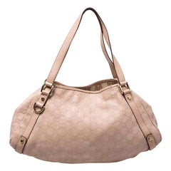 Gucci Beige Leather Abbey Hobo