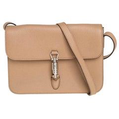 Gucci Beige Leather Jackie Crossbody Bag