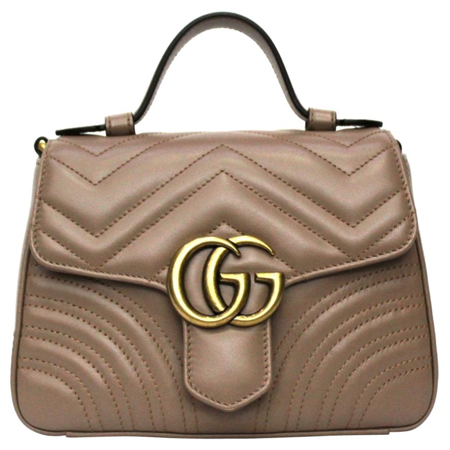 Gucci Beige Leather Marmont Bag