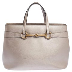 Gucci Beige Leather Medium Bright Bit Tote