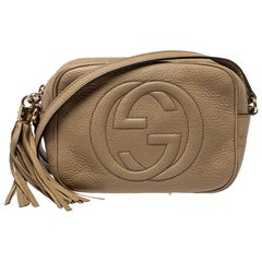 Gucci Beige Leather Soho Disco Crossbody Bag