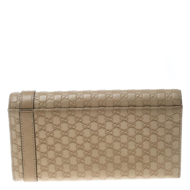 ae80acf541c Gucci Beige Micro Guccissima Leather Continental Wallet At 1stdibs