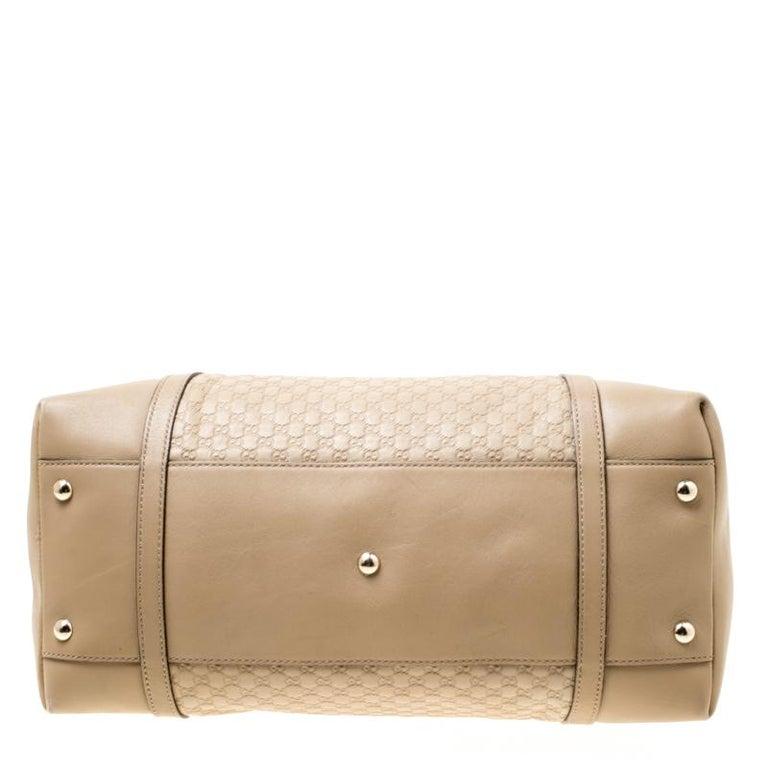Women's Gucci Beige Microguccissima Leather Medium Nice Top Handle Bag