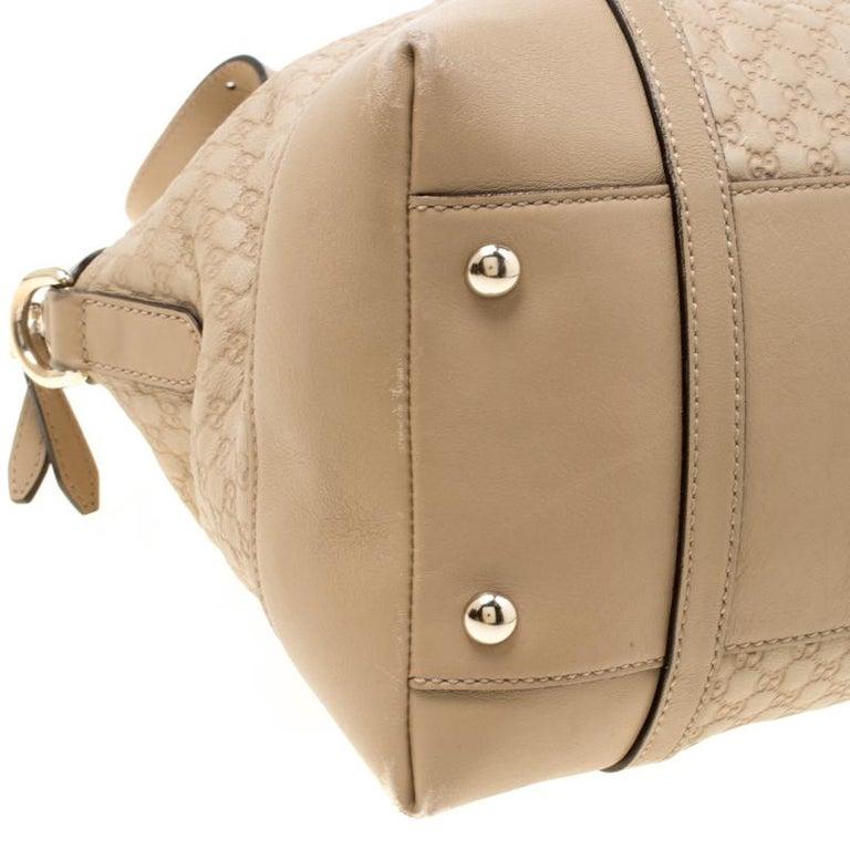 Gucci Beige Microguccissima Leather Medium Nice Top Handle Bag 1