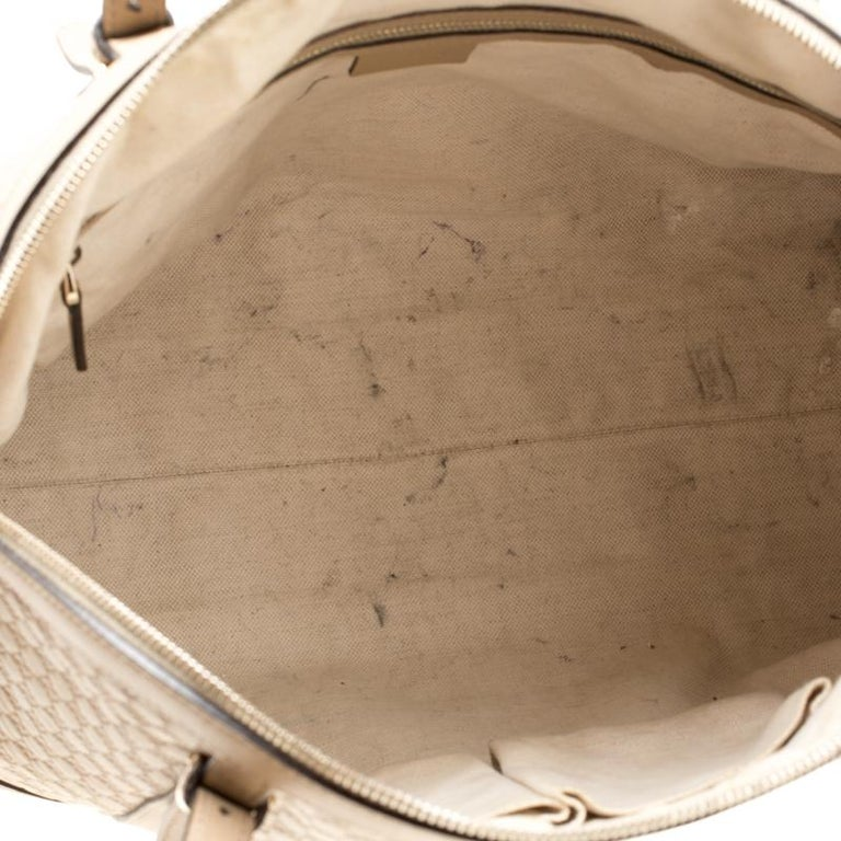 Gucci Beige Microguccissima Leather Medium Nice Top Handle Bag 4