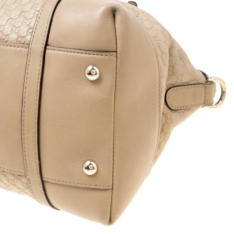 Gucci Beige Microguccissima Leather Medium Nice Top Handle Bag 5