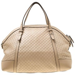 Gucci Beige Microguccissima Leather Medium Nice Top Handle Bag