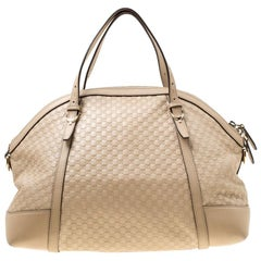 Gucci Beige Microguccissima Leather Medium Nice Top Handle Bag
