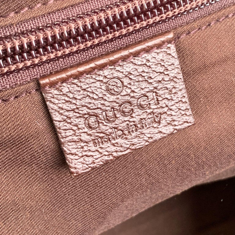Gucci Beige Monogram Canvas Small Tote Bag with Web Handles For Sale 3