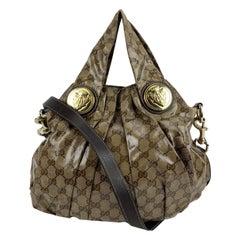 Gucci Beige Monogram Crystal Canvas Hysteria Tote Bag